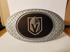 NHL Vegas Golden Knights Metal Diamond Plate Trailer Hitch Cover