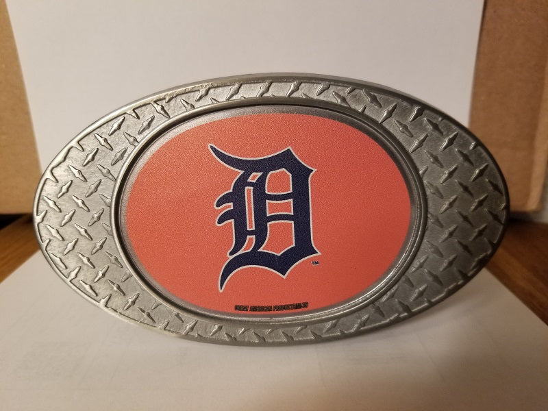 NEW!! MLB Detroit Tigers Metal Diamond Plate Trailer Hitch Cover
