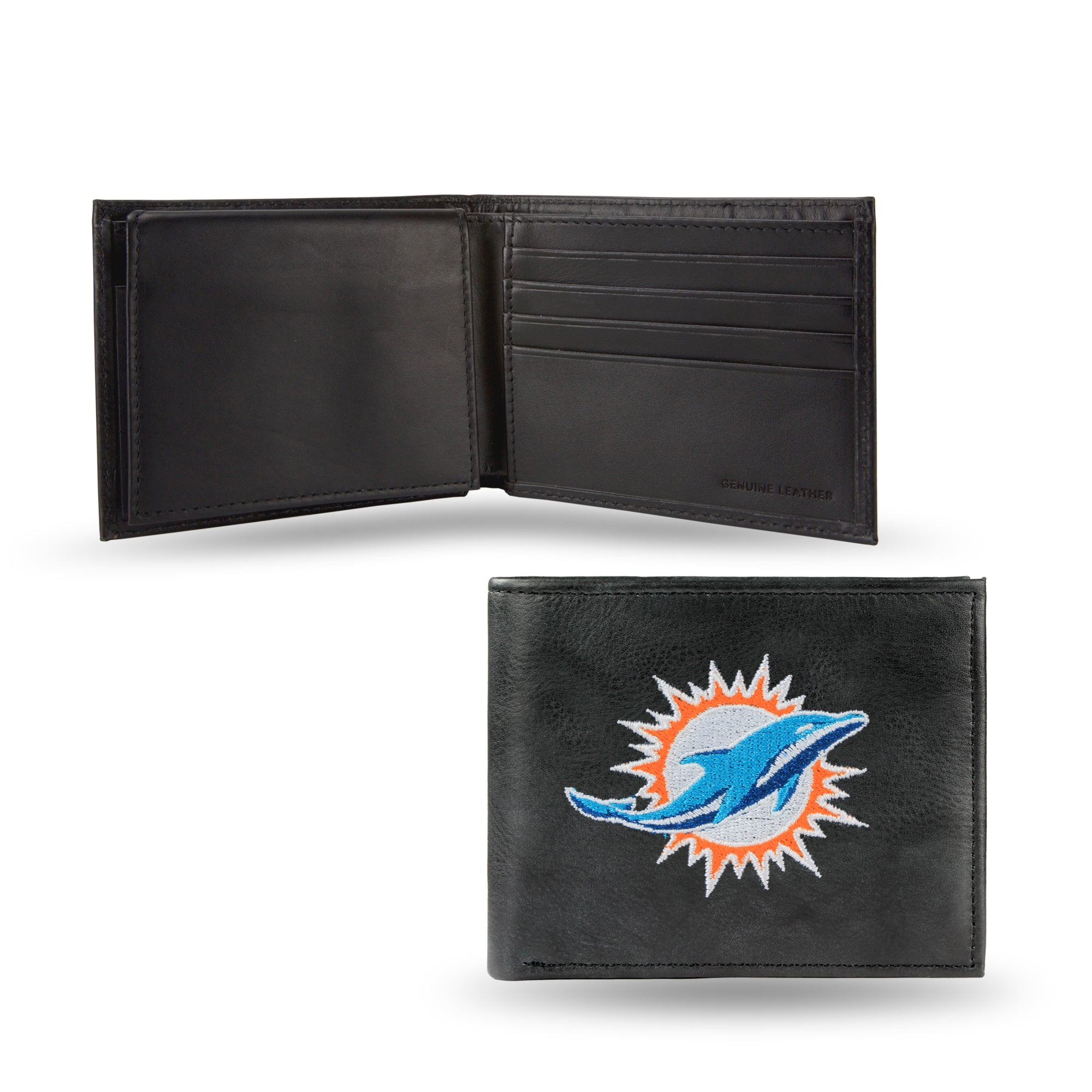 NFL Miami Dolphins Embroidered Billfold / Wallet