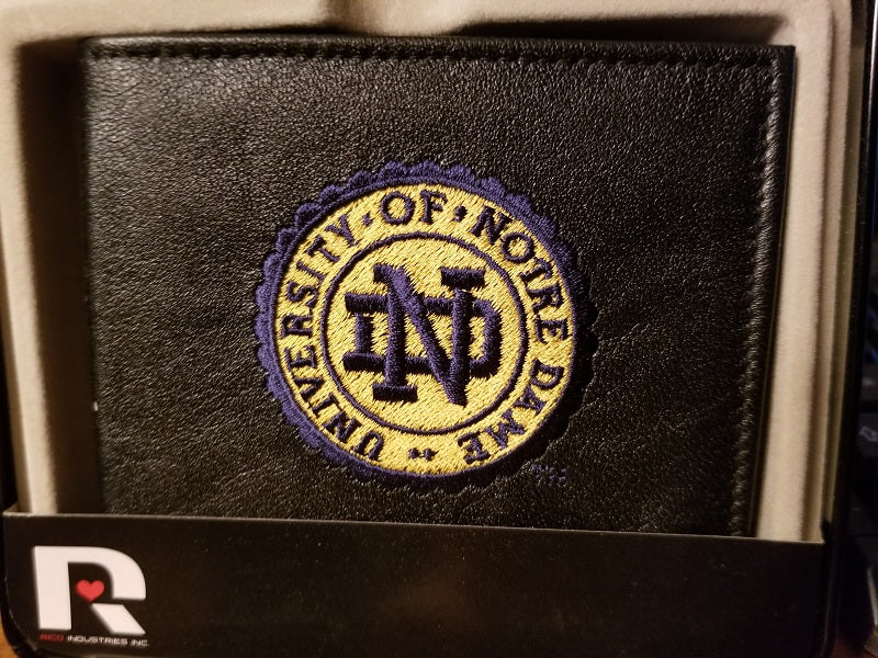 NCAA Notre Dame Fighting Irish Embroidered Billfold / Wallet