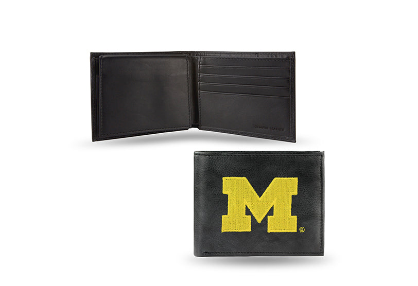 NCAA Michigan Wolverines Embroidered Billfold / Wallet