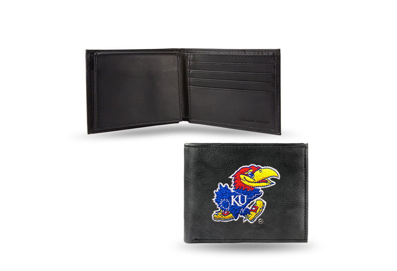NCAA Kansas Jayhawks Embroidered Billfold / Wallet