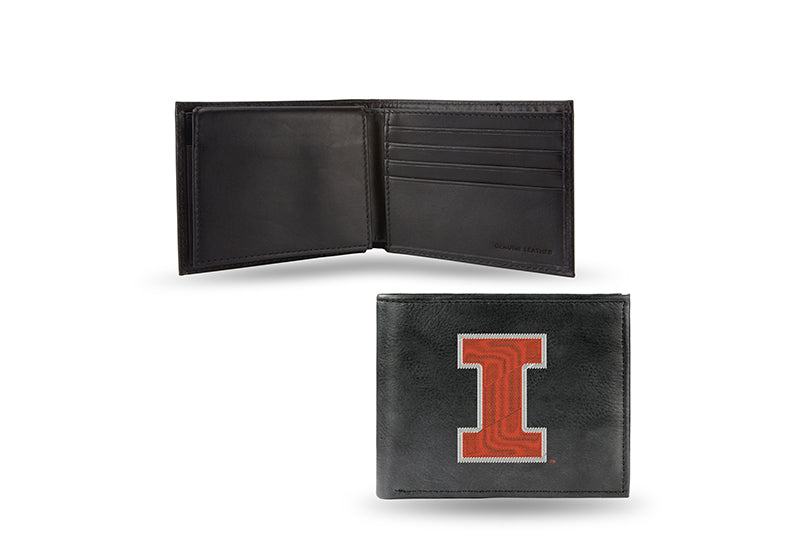 NCAA Illinois Fighting Illini Embroidered Billfold / Wallet