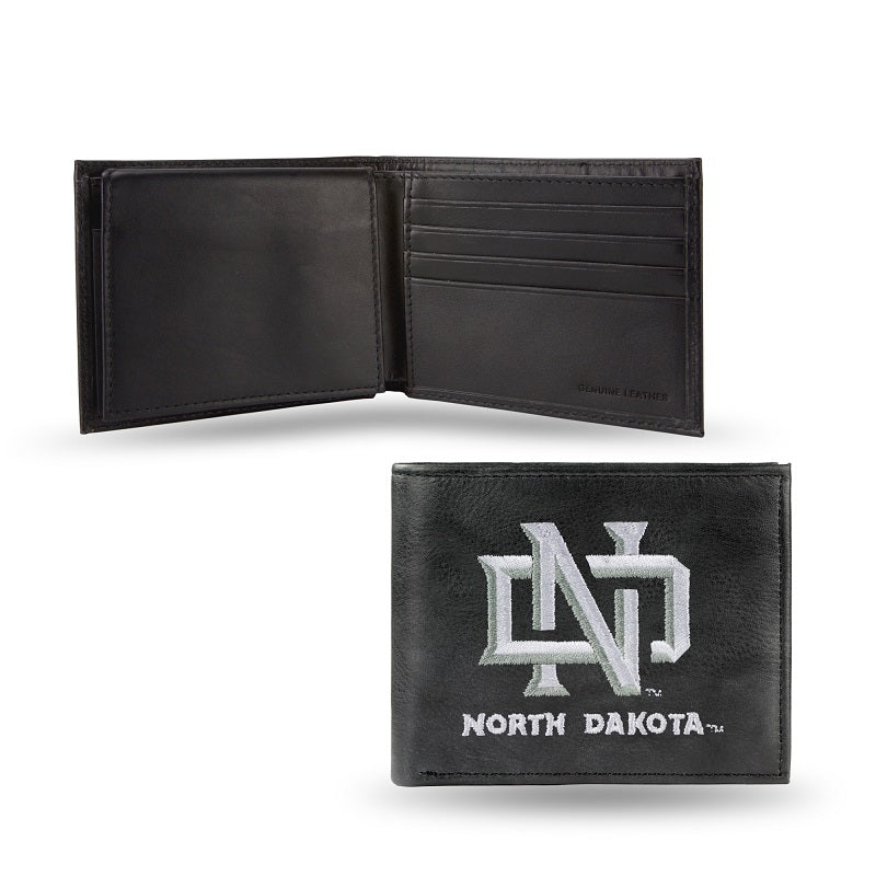 NCAA North Dakota Fighting Hawks Embroidered Billfold / Wallet