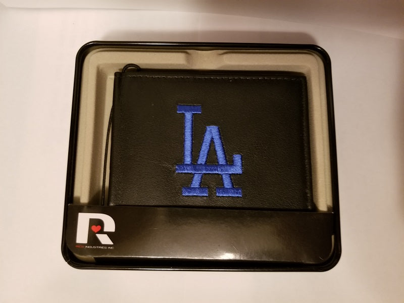 "MLB Los Angeles Dodgers ""Royal Blue LA"" Embroidered Billfold / Wallet"