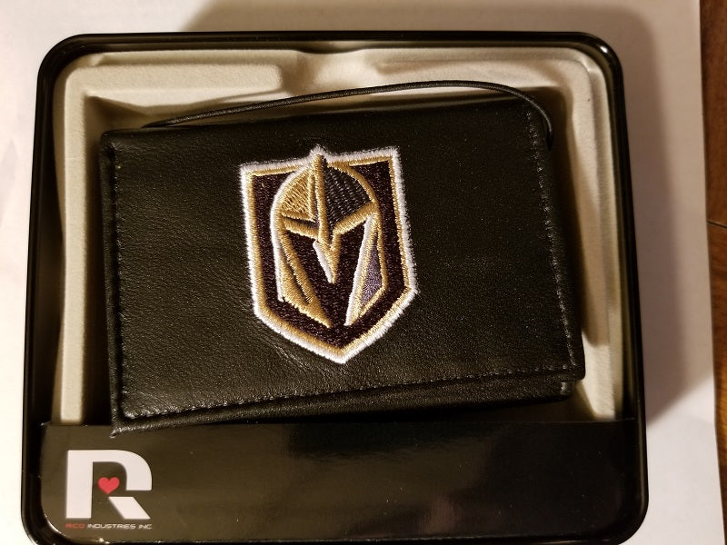 NHL Vegas Golden Knights Embroidered Tri-Fold / Wallet
