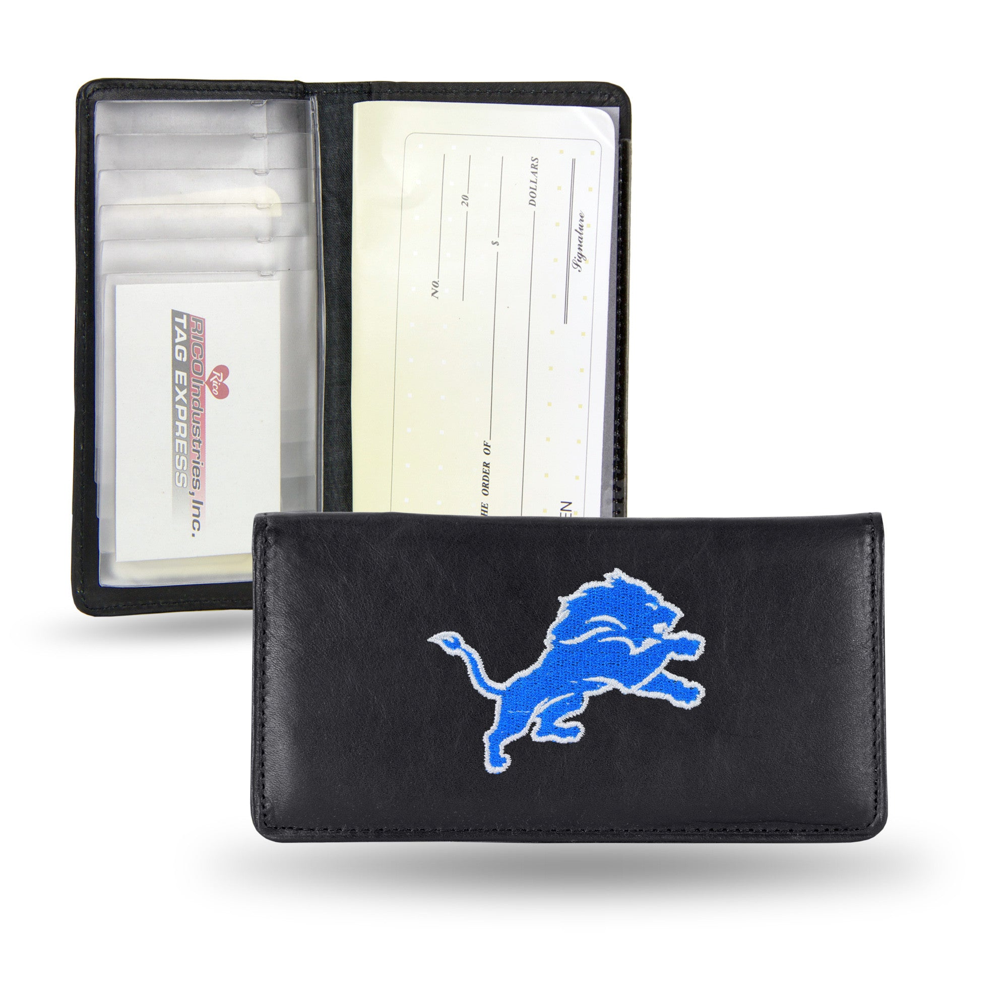 NFL Detroit Lions Embroidered Checkbook Cover