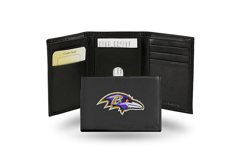 NFL Baltimore Ravens Embroidered Tri-Fold / Wallet
