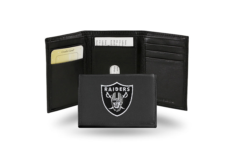 NFL Oakland Raiders Embroidered Tri-Fold / Wallet