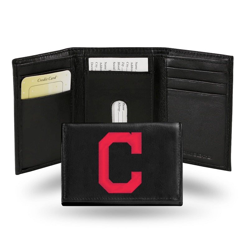 MLB Cleveland Indians Embroidered Tri-Fold / Wallet