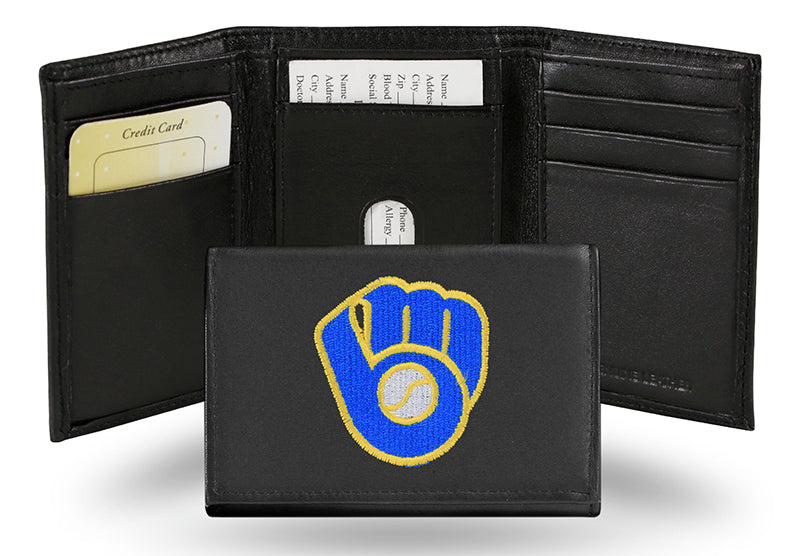 MLB Milwaukee Brewers Embroidered Tri-Fold / Wallet