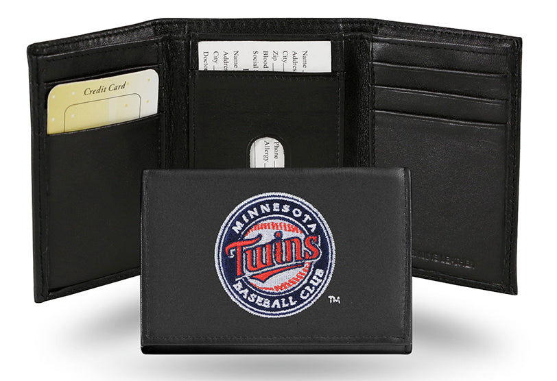 MLB Minnesota Twins Embroidered Tri-Fold / Wallet