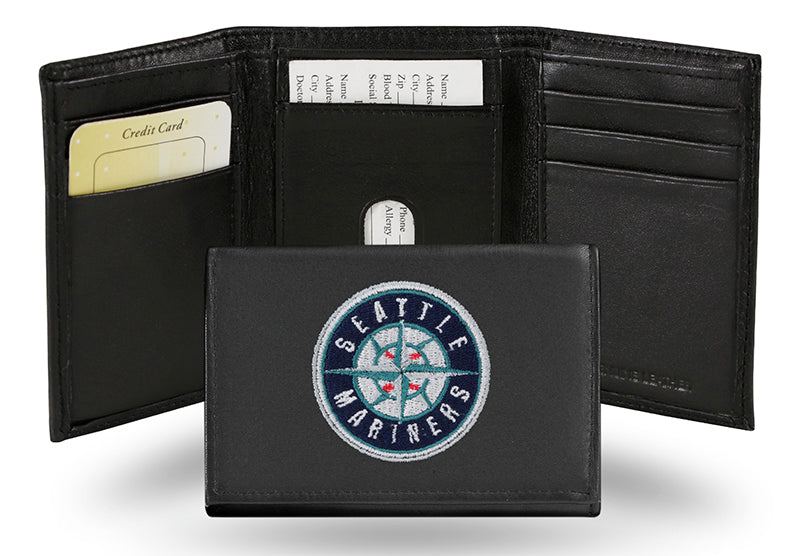MLB Seattle Mariners Embroidered Tri-Fold / Wallet
