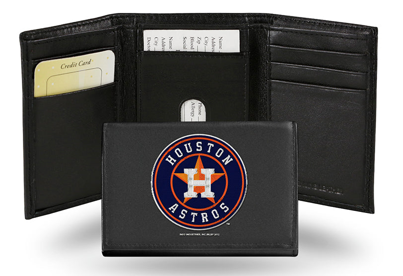 MLB Houston Astros Embroidered Tri-Fold / Wallet