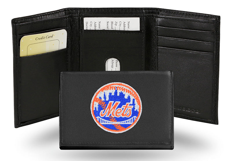MLB New York Mets Embroidered Tri-Fold / Wallet