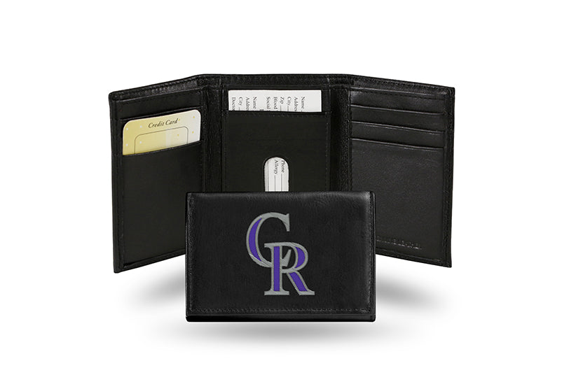MLB Colorado Rockies Embroidered Tri-Fold / Wallet