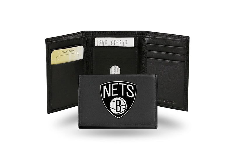 NBA Brooklyn Nets Embroidered Tri-Fold / Wallet