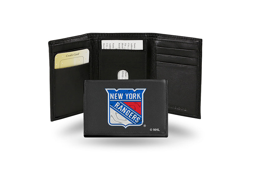 NHL New York Rangers Embroidered Tri-Fold / Wallet