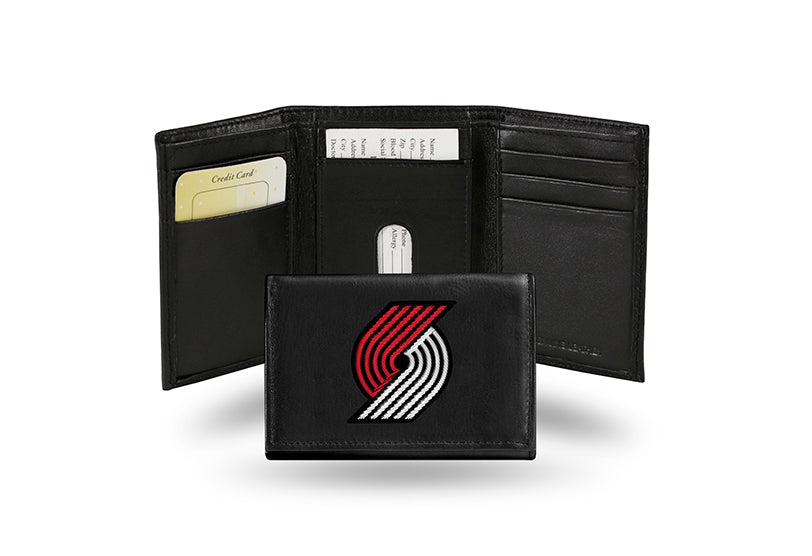 NBA Portland Trail Blazers Embroidered Tri-Fold / Wallet
