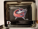 NHL Columbus Blue Jackets Embroidered Tri-Fold / Wallet