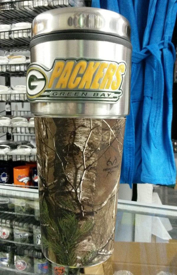 NFL Green Bay Packers 16oz Stainless Steel RealTree Camouflage Tumbler