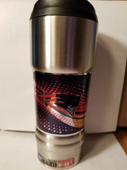 NEW!! NFL New England Patriots Vacuum Insulated Stainless Steel Tumbler