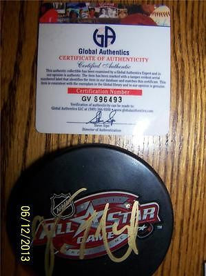 Vincent Lecavalier All-Star Autographed Puck (COA-GA) - Hockey Cards Plus LLC