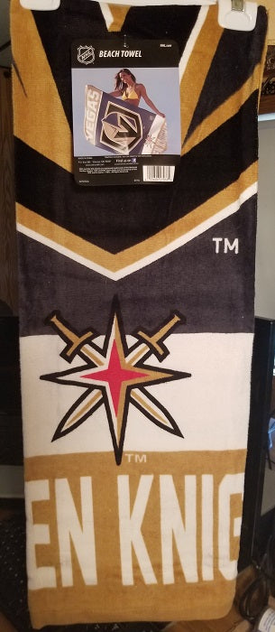 "NHL Vegas Golden Knights 30"" X 60"" Fiber Beach Towel"