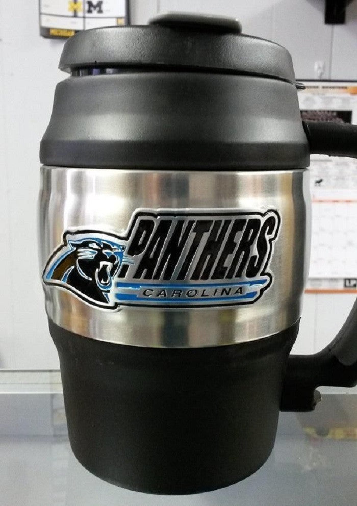 NFL Carolina Panthers Heavy Duty Insulated Mug / Travel Mug Mini Keg 20oz - Hockey Cards Plus LLC