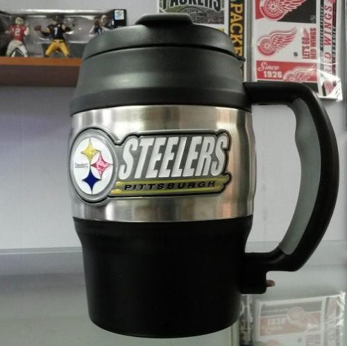 NFL Pittsburgh Steelers Heavy Duty Insulated Coffee Mug / Travel Mug