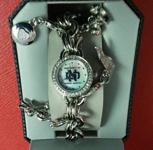 NCAA North Dakota Fighting Hawks Women's Charm Watch
