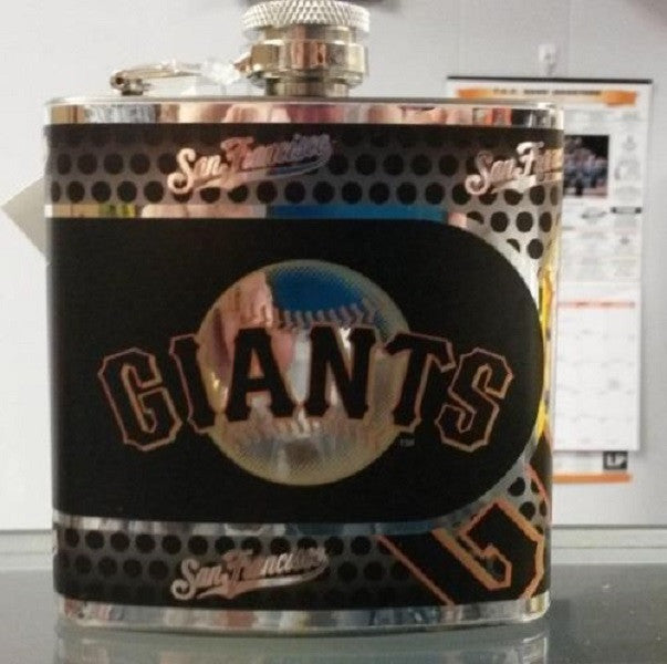 MLB San Francisco Giants 6oz Stainless Steel Flask with 360 Wrap