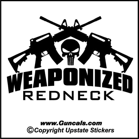 Weaponized redneck with crossed ar15s and punisher skull funny gun weaponized redneck with crossed ar15s and punisher skull funny gun decal publicscrutiny Gallery