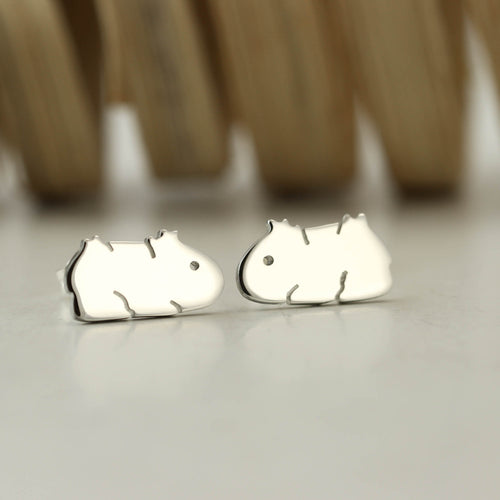 Sterling Silver Guinea Pig Earrings