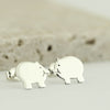 Sterling Silver Pig Earrings