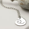Handmade Sterling Silver Cat Necklace