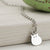 Sterling Silver Round Cat Necklace