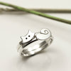 Sterling Silver Cat & Tail Rings