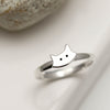 Handmade Sterling Silver Cat Ring