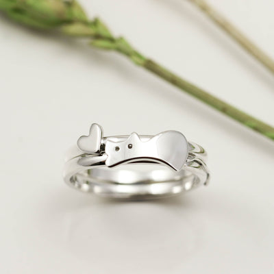 Handmade Sterling Silver Cat Rings