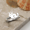 Sterling Silver Chinchilla Ring