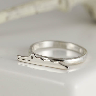 Sterling Silver Crocodile Ring