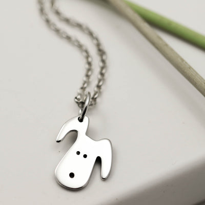 Handmade Sterling Silver Doggy Necklace