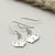 Sterling Silver Chinchilla Earrings