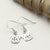 Sterling Silver Pug Earrings