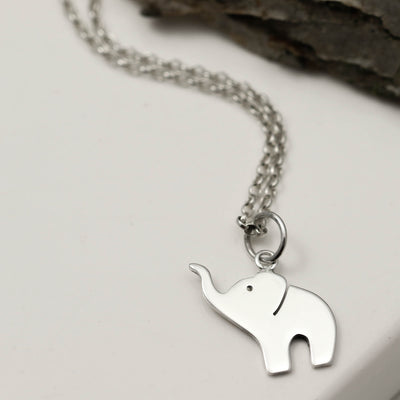 Sterling Silver Baby Elephant Necklace