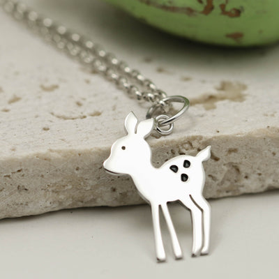 Handmade Sterling Silver Fawn Necklace