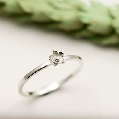 Sterling Silver Tiny Flower Ring