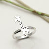 Sterling Silver Giraffe Ring