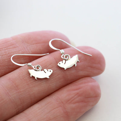 Sterling Silver Hamster Earrings